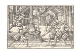Fencing 1570 Giclee Print by Tobias Stimmer