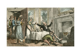Dr Syntax Mistakes a Gentleman's House for His Inn Giclee Print by Thomas Rowlandson