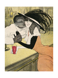 Mixed Race Couple, Cafe Giclee Print by Walter Schnackenberg