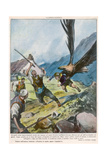 Eagle Attempts Abduction Gicleetryck av Vittorio Pisani