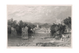 Bywell Northumberland Giclee Print by Thomas Allom