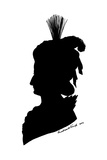 Marie Antoinette in Silhouette Giclee Print by Theodore Tharp