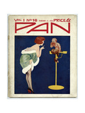 Woman Telling Pan Off! Giclee Print by Tom Purvis