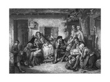 Settlers in Canada Observing the Sabbath Giclee Print by Thomas Faed