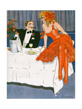 Couple Drinking 1908 Giclee Print