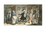 Dr Syntax Disputing His Bill with the Landlady Giclee Print by Thomas Rowlandson