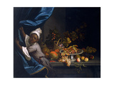 A Young Moor with a Still Life of Fruit Giclee Print by Tobias Stranover
