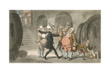 Dr Syntax Made Free of the Cellar Giclee Print by Thomas Rowlandson