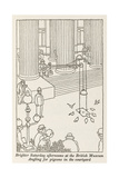 Angling for Pigeons Giclee Print by William Heath Robinson