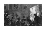 A Lantern Lecture for Soldiers in a Ymca Hut, WW1 Giclee Print by W. Hatherell