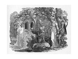 Hermit of Warkworth Giclee Print by Thomas Bewick