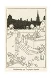 Brightening Up Trafalgar Square Impression giclée par William Heath Robinson