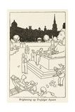 Brightening Up Trafalgar Square Giclee Print by William Heath Robinson