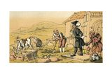 Dr Syntax Meditating on the Tombstones Giclee Print by Thomas Rowlandson