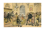 Dr Syntax in a Court of Justice Giclee Print by Thomas Rowlandson