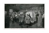 Queen Victoria's Funeral at St George's Chapel, Windsor Giclee Print by W. Hatherell