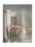 Hyde Park Coffee Stall Giclee Print by Yoshio Markino