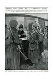 Queen Alexandra Serving at London Bridge Buffet, WW1 Giclee Print by W. Hatherell