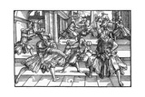 Fencing with Daggers Giclee Print by Tobias Stimmer