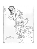 Isadora Duncan, Klods Premium Giclee Print by Valdemar Andersen