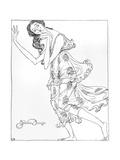 Isadora Duncan, Klods Giclee Print by Valdemar Andersen