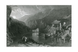 Miller's Dale, Peak District, Derbyshire Giclee Print by Thomas Allom