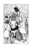 1902 Coronation - in the Crowd, Self-Sacrifice Giclee Print by Tom Browne