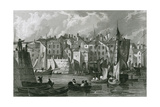 Plymouth, Devon Giclee Print by Thomas Allom