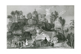 Rooter Rocks, Peak District Giclee Print by Thomas Allom