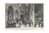 Church Service, Plymouth Giclee Print by Thomas Allom
