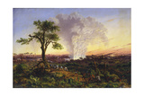 Victoria Falls at Sunrise Giclée-tryk af Thomas Baines