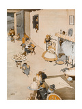 The Christmas Robbers Giclee Print by William Heath Robinson