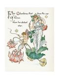 Aquilegia Vulgaris Giclee Print by Walter Crane