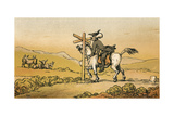 Dr Syntax Losing His Way Giclee Print by Thomas Rowlandson