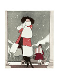Fur Coat and New Hat 1919 Giclee Print by Wilton Williams