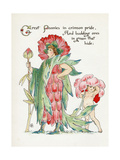 Plants, Paeonia Giclee Print by Walter Crane