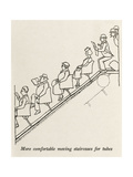 Moving Staircase Premium Giclee Print by William Heath Robinson