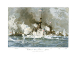 Naval Battle Santiago Giclee Print by Willy Stower