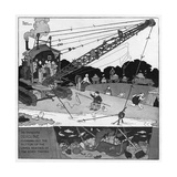The Gentle Art of Excavating Giclee Print by William Heath Robinson