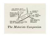 The Motorists Companio Giclee Print by William Heath Robinson