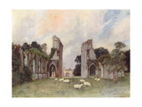 Glastonbury Abbey 1908 Giclee Print by Warwick Goble