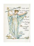 Myth, Flora Giclee Print by Walter Crane