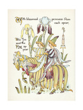 Plants, Iris Giclee Print by Walter Crane