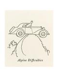 Alpine Difficulties Giclee Print by William Heath Robinson