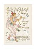 Crane, Flora's Feast Giclee Print by Walter Crane