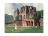 Furness Abbey, Goble 1908 Giclee Print by Warwick Goble
