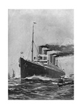 Steamship 'Deutschland' Giclee Print by Willy Stower