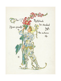 Plants, Althaea Rosea Giclee Print by Walter Crane