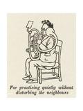Quiet Music Practice Giclee Print by William Heath Robinson