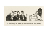Authority in the Young Giclee Print by William Heath Robinson